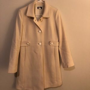 White pea coat